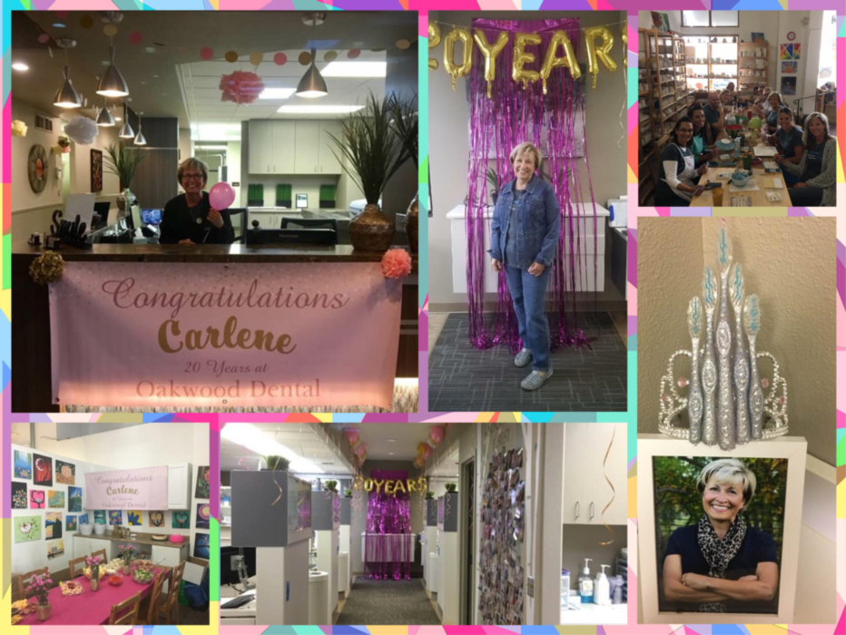 Photo collage of our celebration for 20 years for Carlene